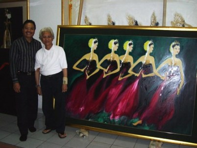 With Srihadi Soedarsono, Indonesian maestro in painting