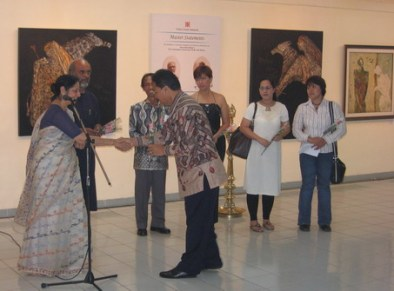 With The ambassador-Indian Artists Exhibition, 27 August 2007