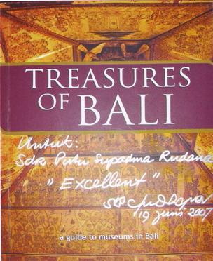 Written appreciation fro President SBY to Putu Supadma Rudana,2007
