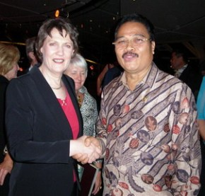 With PM Helen Clark